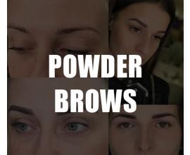 Перманентный макияж бровей. Пудровые брови